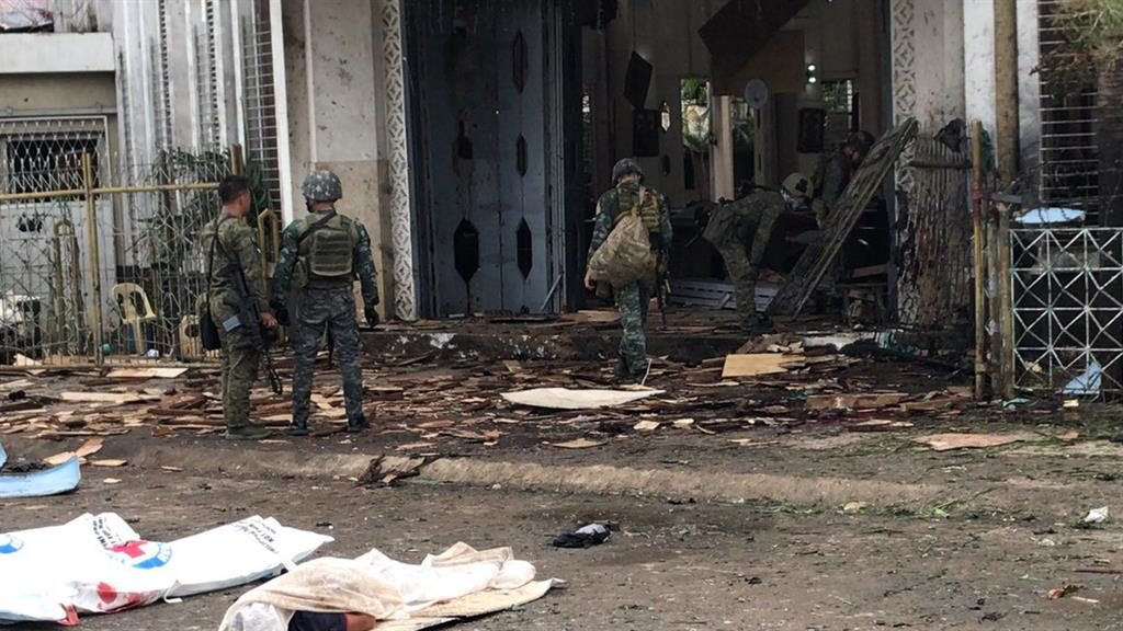 Philippines cathedral bombing: Huge explosions at Jolo church during Sunday Mass