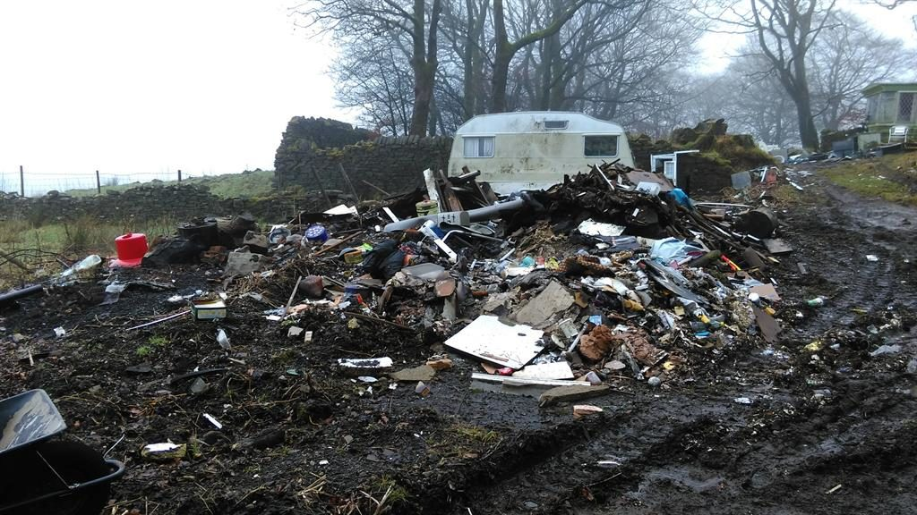 Good riddance to baa-d rubbish: Dumped items included a sheep's head PICTURES: PA