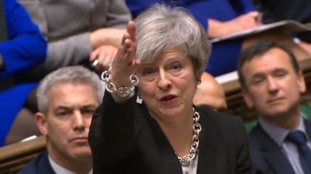 One more chance: Theresa May speaking out in the Commons yesterday PICTURE: PA