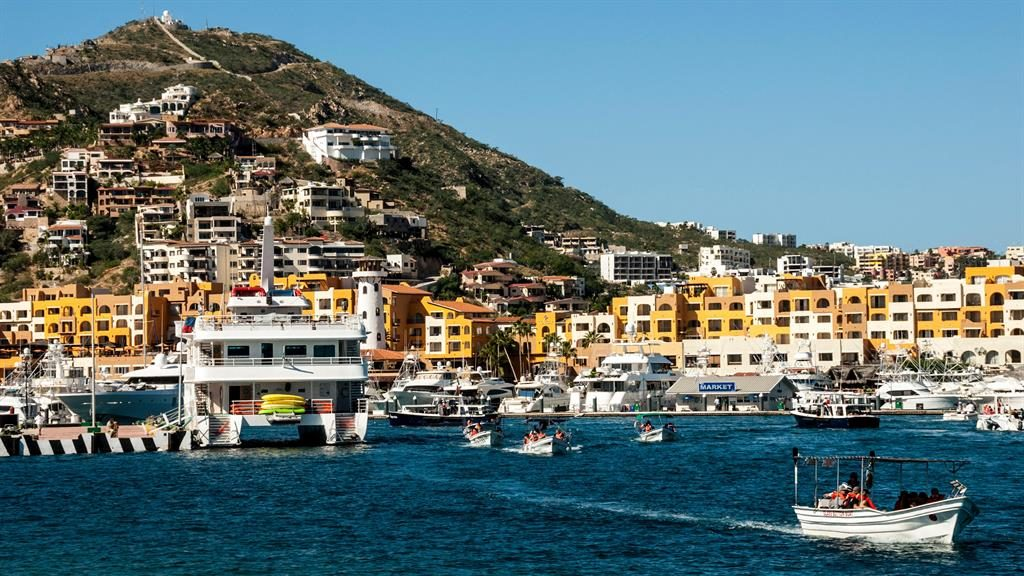 Harbour master: Cabo San Lucas (pictured) is the glitzy sister of the quieter San Jose Del Cabo PICTURE: ALAMY