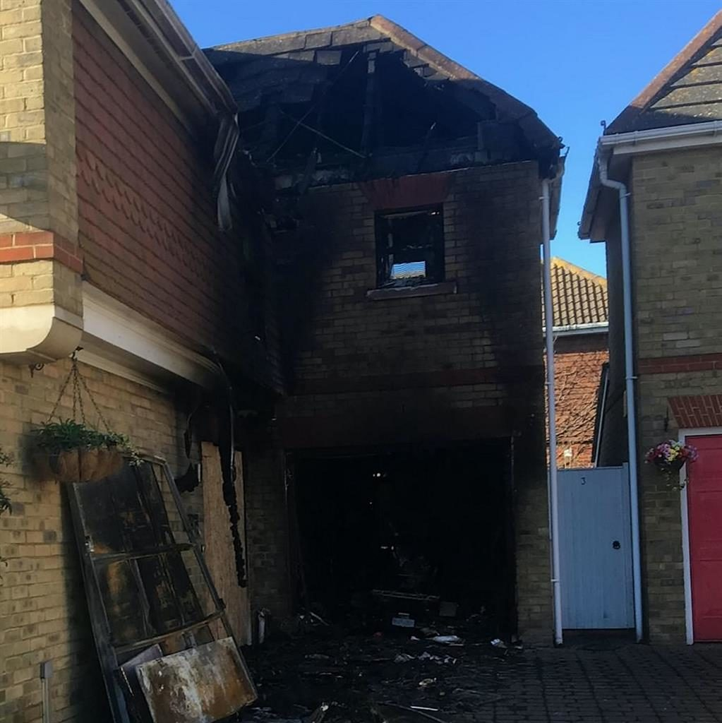 Bricks and motor: What's left of Peter Biggs' family home following the explosion caused by his motorcycle's fuel tank
