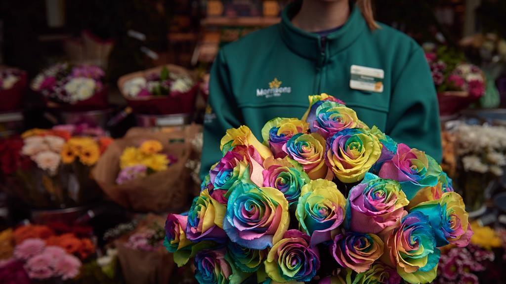 Rose by any other colour: The Morrisons blooms for all types of lovers PICTURE: MORRISONS