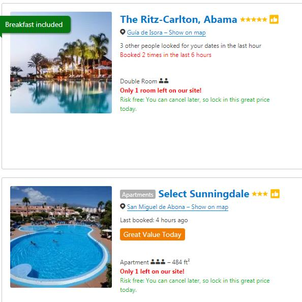 Pressure sale: Type of hotel ad by Booking.com that competition watchdog ruled must change