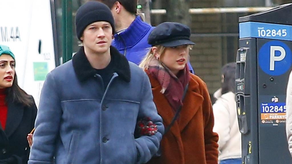 Stalker ordeal: Taylor with Alwyn in New York PICTURE: SPLASH