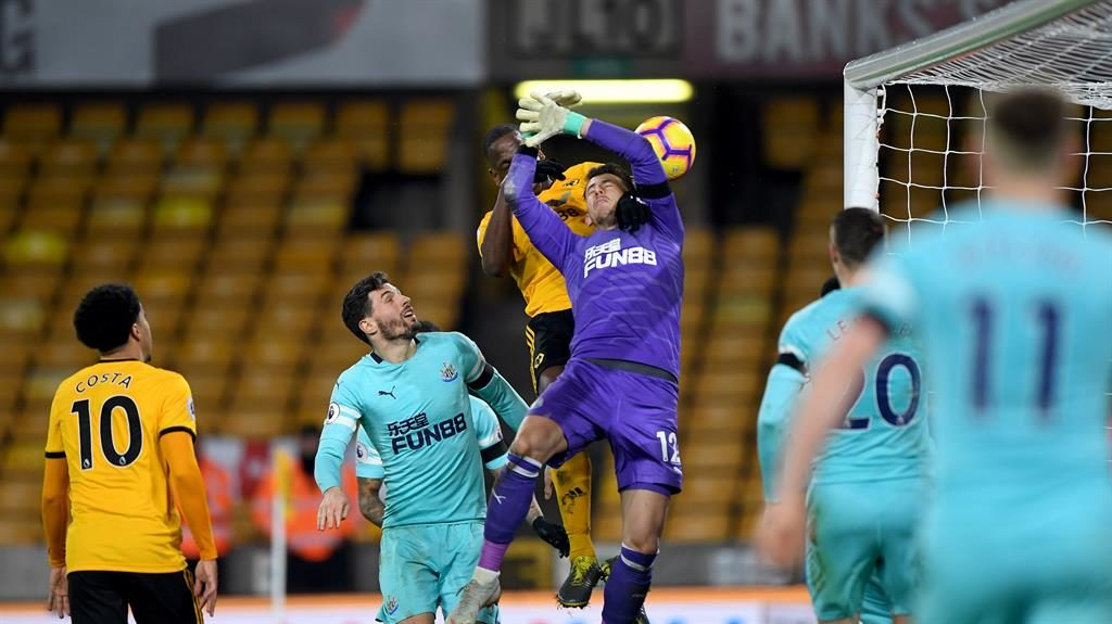 In a flap: Dubravka allows Boly in to level after Hayden (below) fired Newcastle in front PICTURE: GETTY