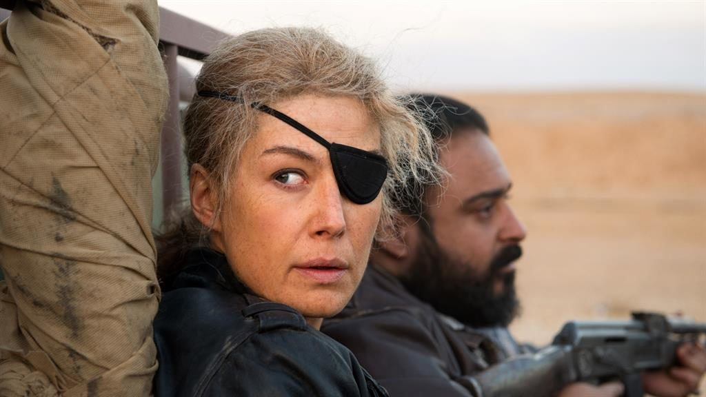 Jittery and raw: Rosamund Pike as the ill-fated journalist Marie Colvin