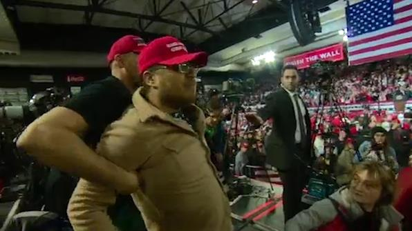 Trump Checks On BBC Cameraman Attacked By Supporter At His Rally