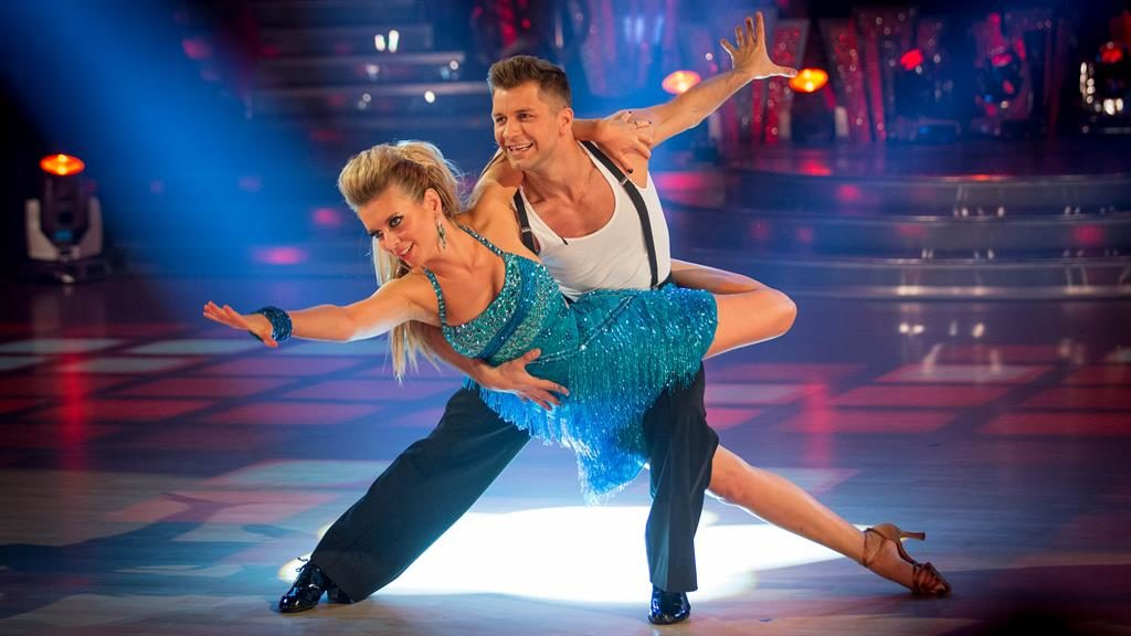 Countdown to love: Pasha Kovalev and Rachel Riley in 2013 and winning the show with Caroline Flack (below) PICTURE: BBC