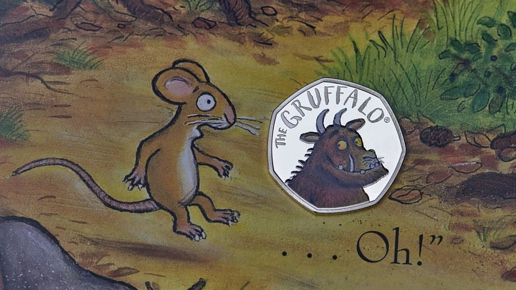 Collectors item: One of the coins made for the Royal Mint's new Gruffalo collection PICTURES: PA