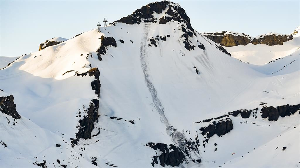 Avalanche hits a Swiss piste leaving up to 12 people buried