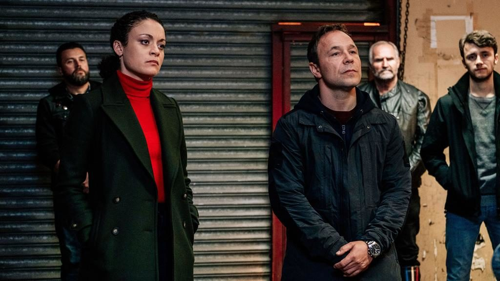 Duty bound: Rochenda Sandal and Stephen Graham in character as Lisa McQueen and John Corbett PICTURE: BBC