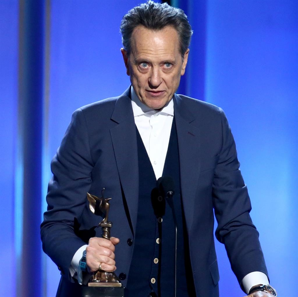 Welling up: Grant accepting his best supporting actor award PICTURE: GETTY