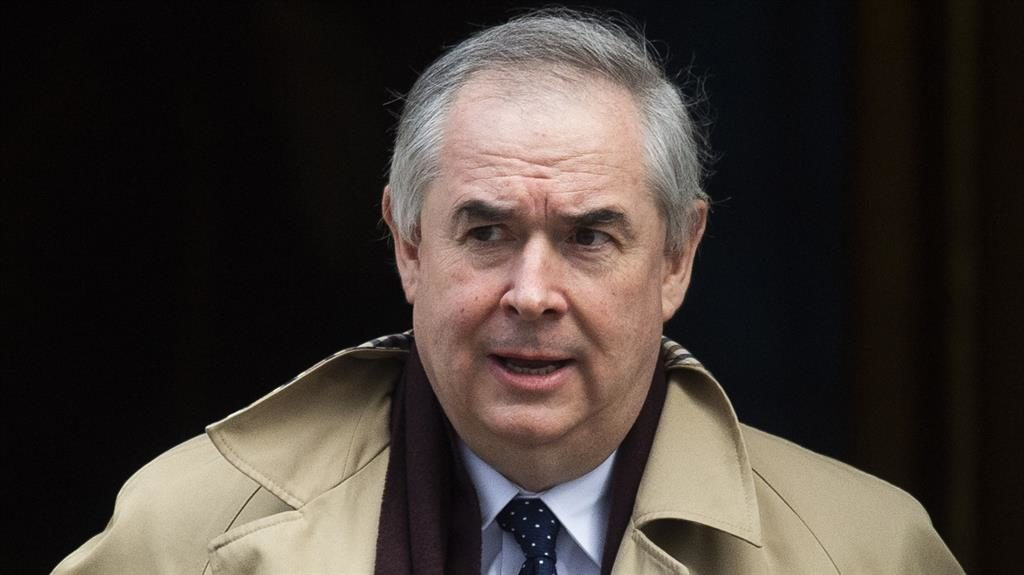 'Focused': Geoffrey Cox is likely to have a weekend of work PICTURE: EPA