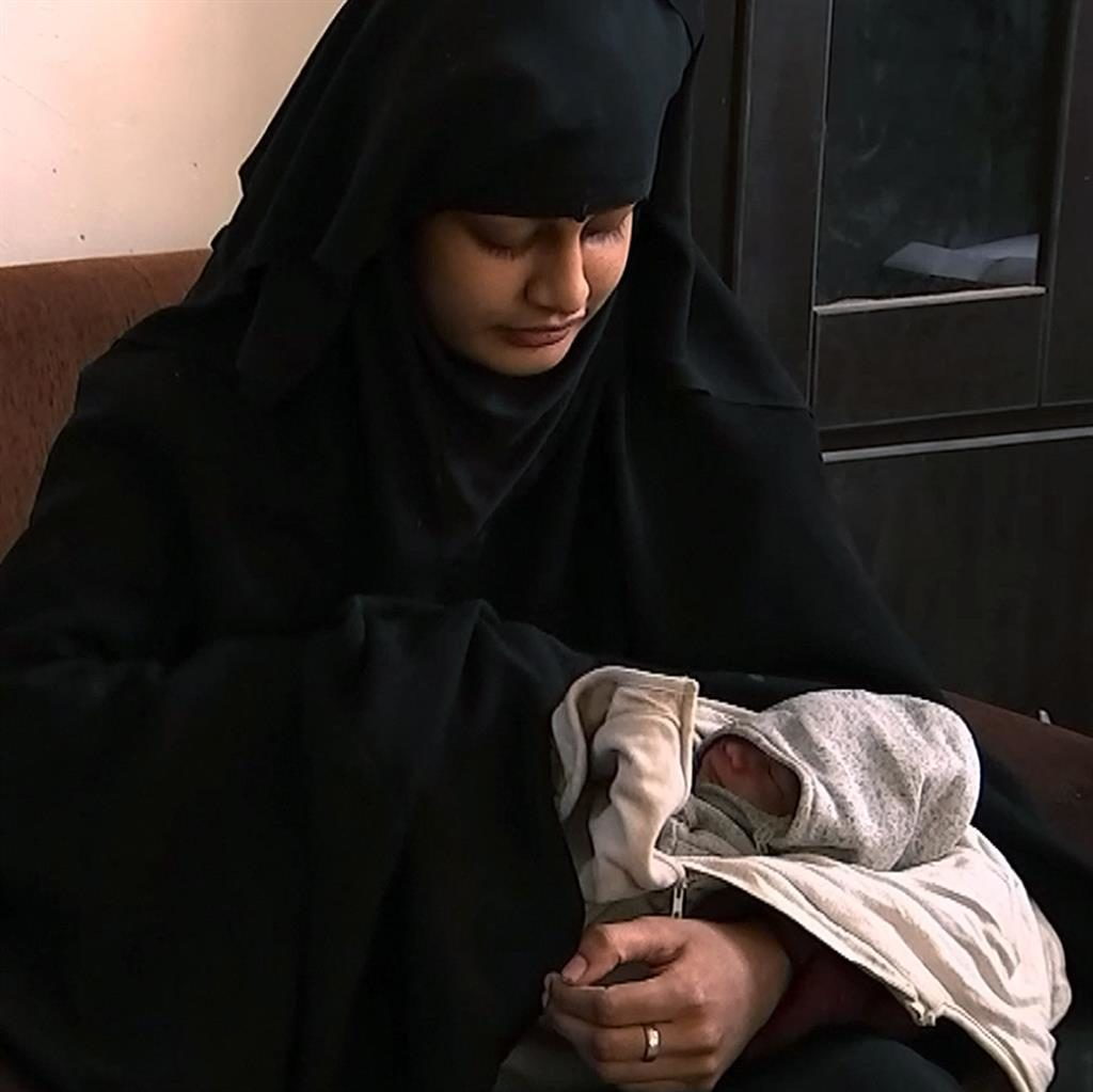 'Strong reports': It is thought that Shamima Begum's baby has died PICTURE: ITV