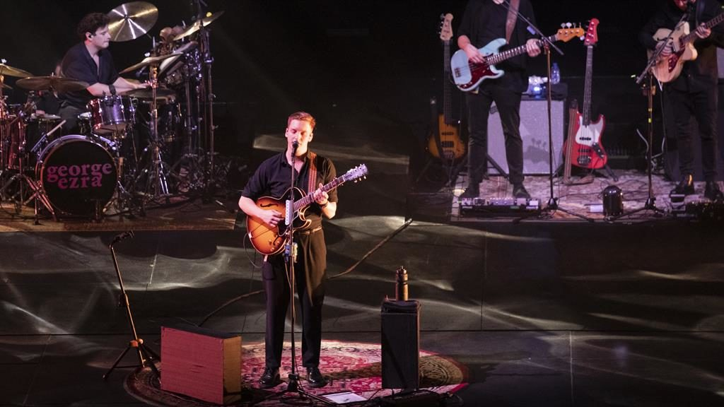 Low-key charm: George Ezra thrilled the Arena crowd PICTURE: GETTY