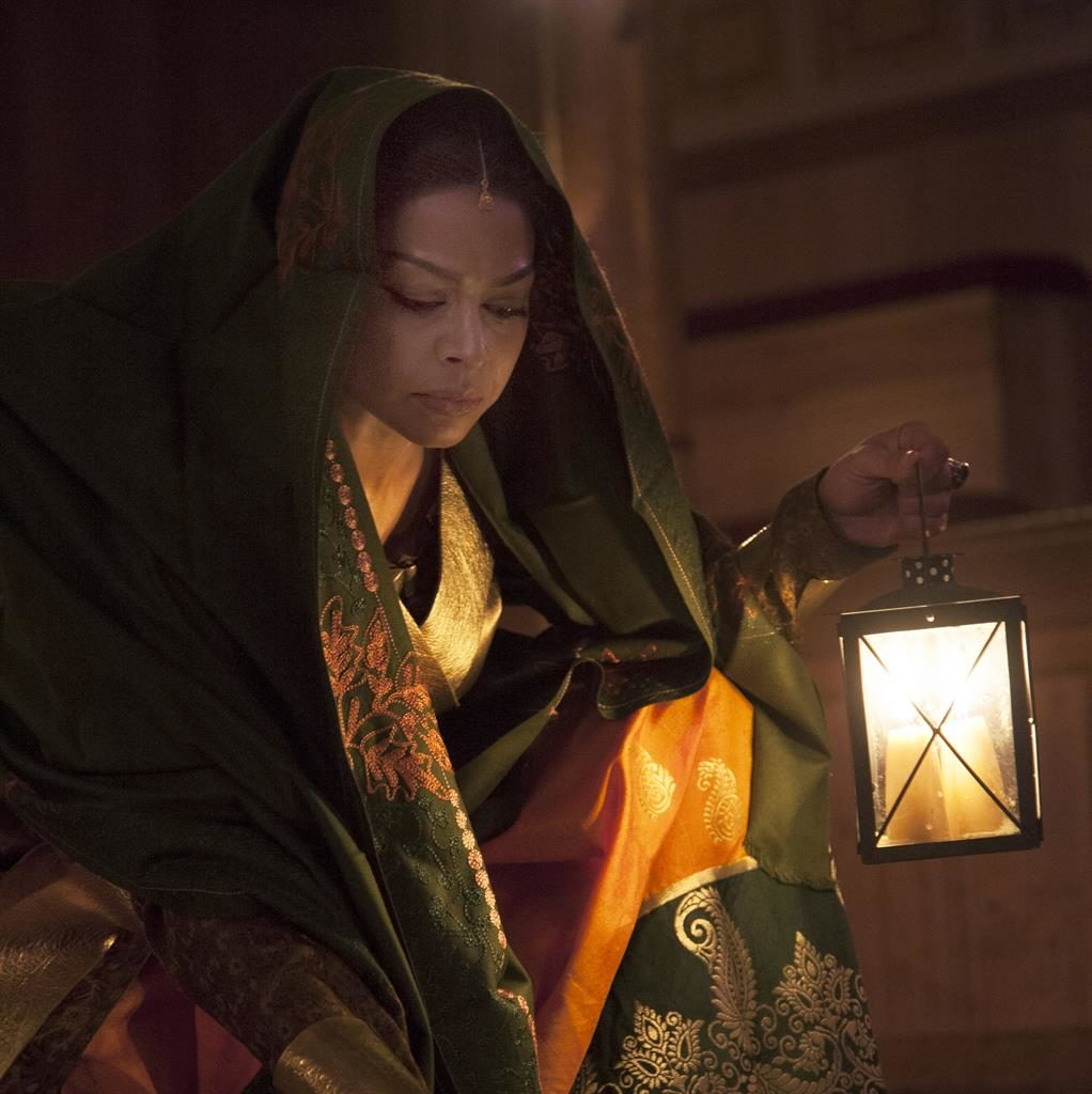 Lighting the way: Ayesha Dharker on stage at the Globe PICS: INGRID POLLARD