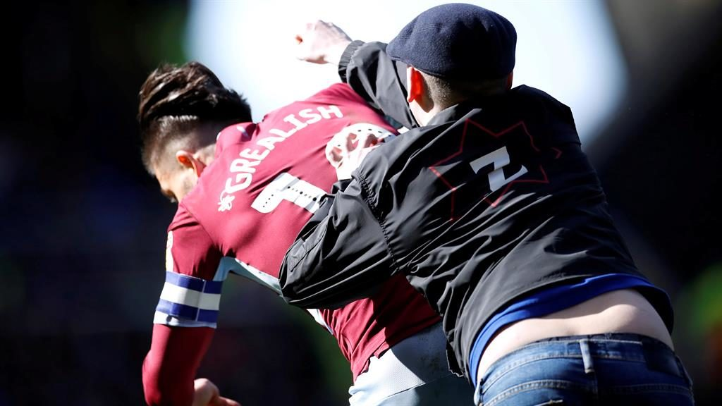 Aston Villa's Grealish attacked by fan