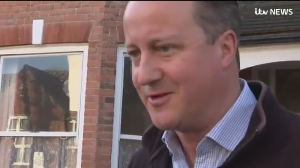 Support: Former PM David Cameron thinks Theresa May is 'doing the right thing' PICTURE : ITV