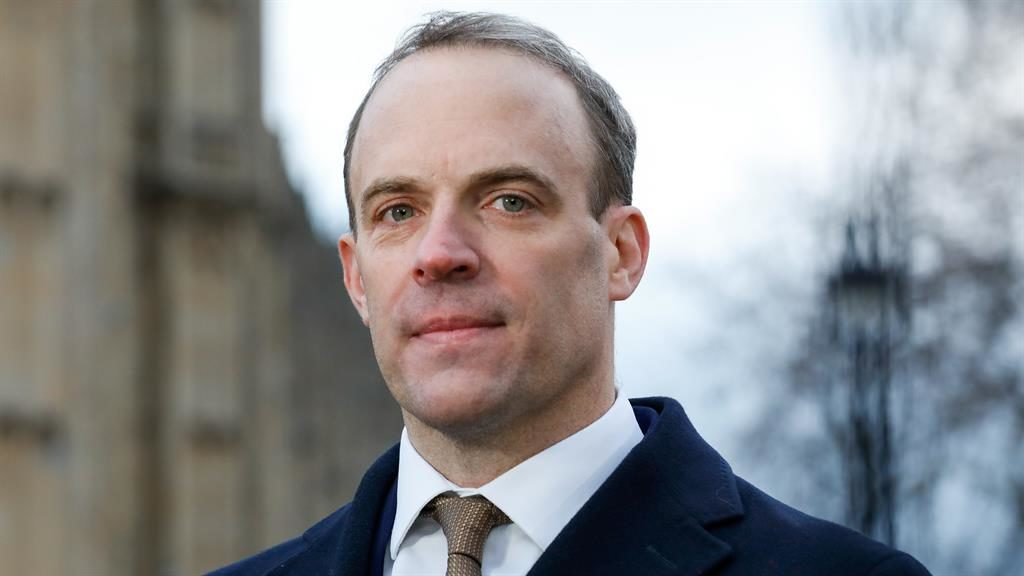 Dominic Raab sets out stall am...