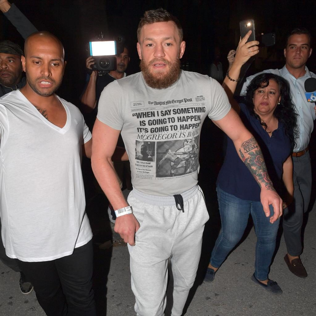 Conor McGregor went in for a handshake before smashing phone, fan says