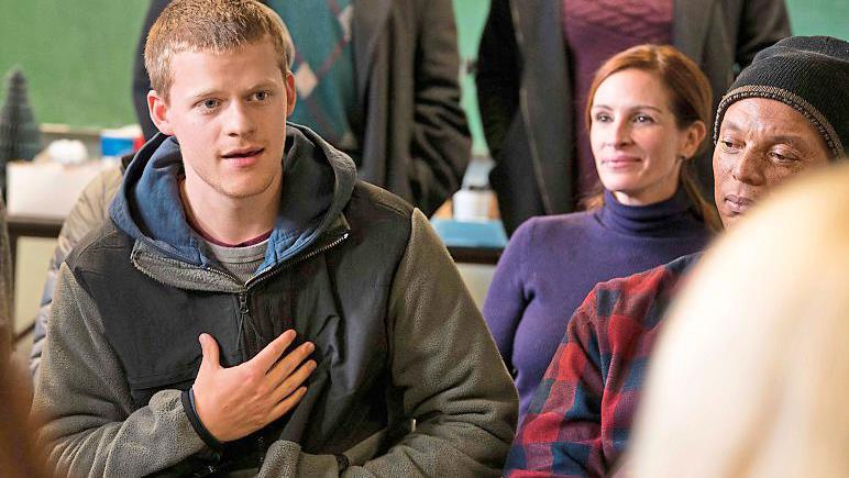 Crisis point: Lucas Hedges and Julia Roberts battle his drug addiction