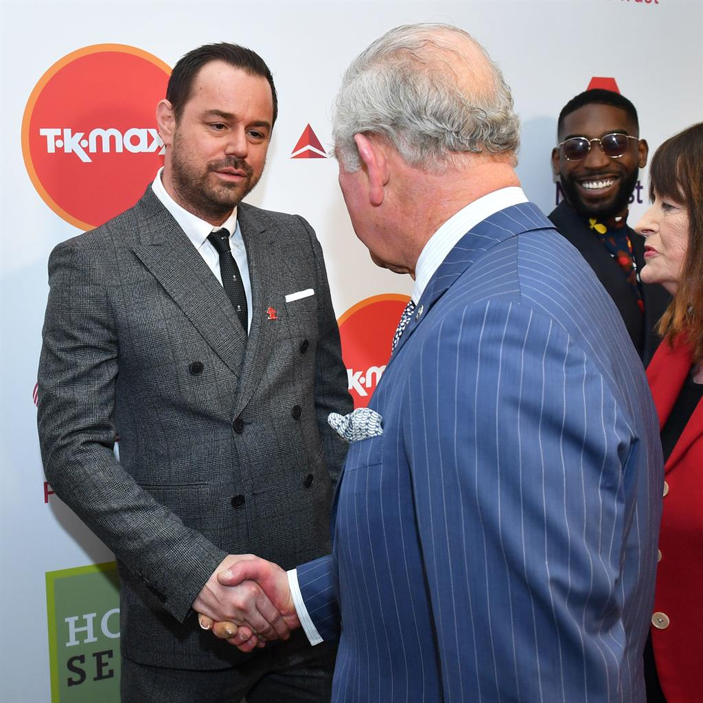 Quite distant relations: Dyer and Charles PICTURE: PA