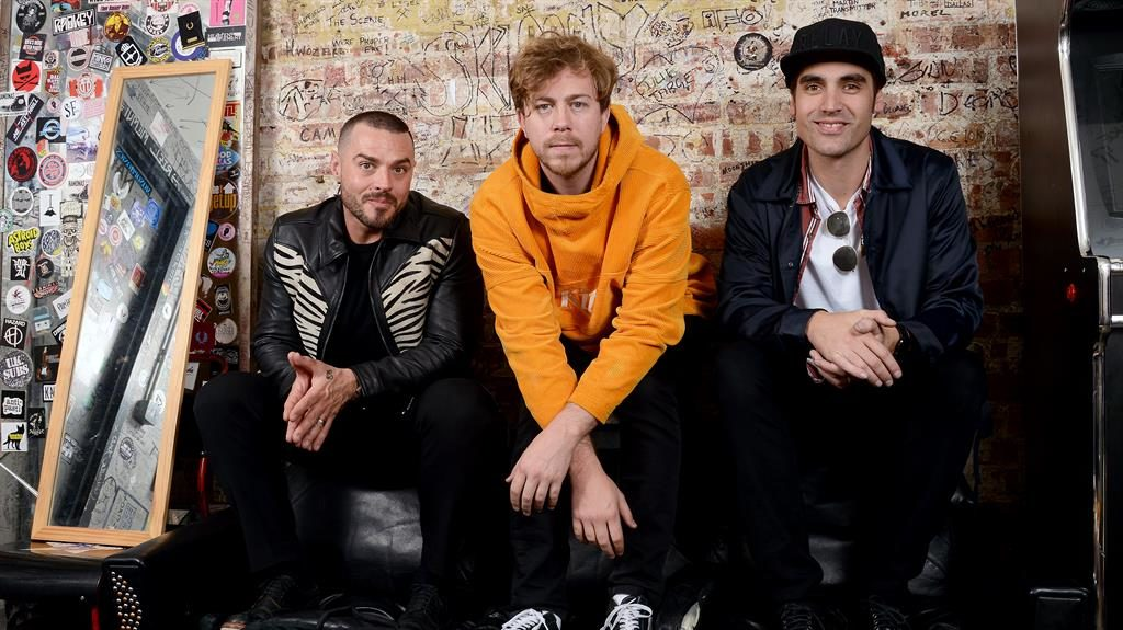 Busting out all over: From left, Matt Willis, James Bourne and Charlie Simpson are enjoying new success PICTURE: GETTY