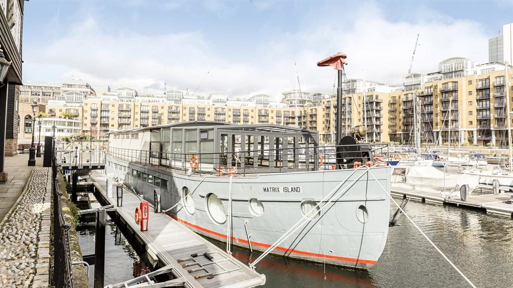 Splashing out: The houseboat on its London mooring PICTURE: SWNS