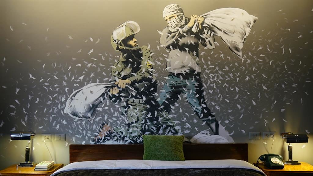 Pillow talk: Banksy's Walled Off Hotel feels like a starting point for discussion