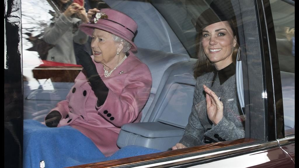 Kate Middleton's first solo outing with the Queen