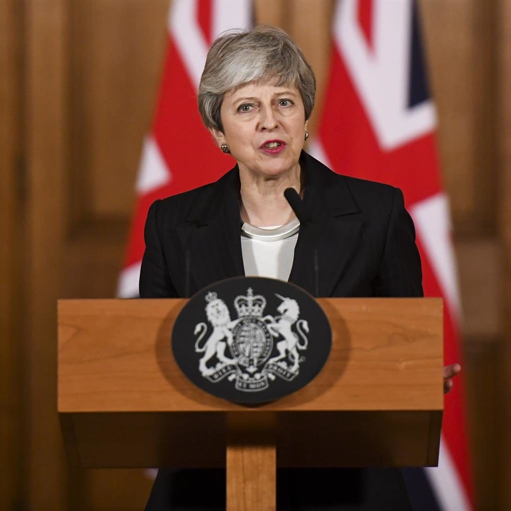 Risky strategy: Mrs May pitted MPs against the people with her speech on Wednesday night PICTURE: EPA