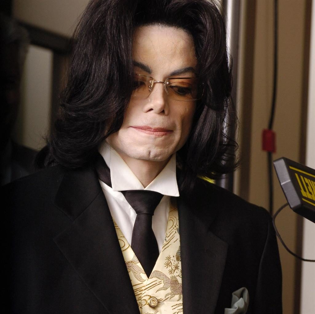 Jackson arrives at court for his trial in 2005 PIC: GETTY
