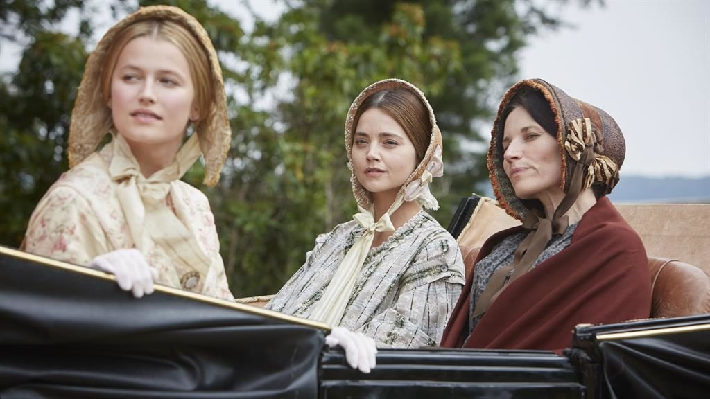 Class act: Lily Travers, Jenna Coleman and Kate Fleetwood in Victoria PICTURE: ITV