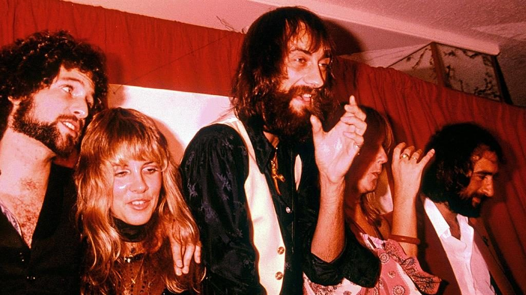The chain of fools: Fleetwood Mac in 1978, the year after the release of their break-up masterpiece, Rumours PICTURE: REX