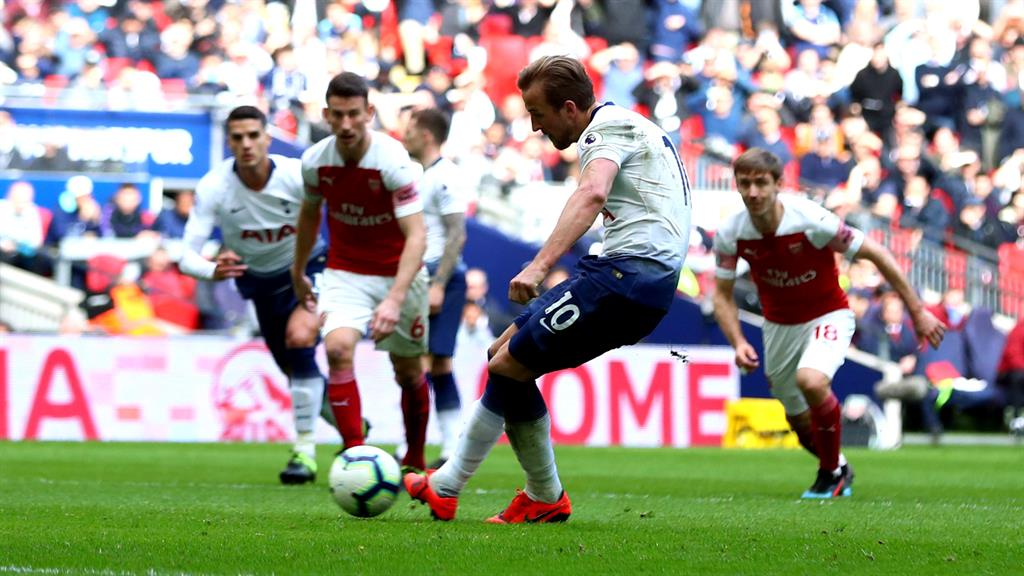 Penalty king Harry Kane nets Tottenham's equaliser against Arsenal