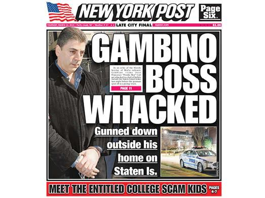 Reputed Gambino crime boss shot and killed outside home in NY