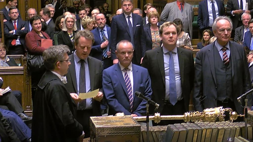Brexit paused MPs read out the result after Mrs May's motion passed