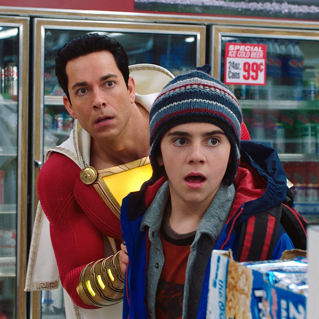 Magic: Zachary Levi and Jack Dylan Grazer put the fun into the superhero universe