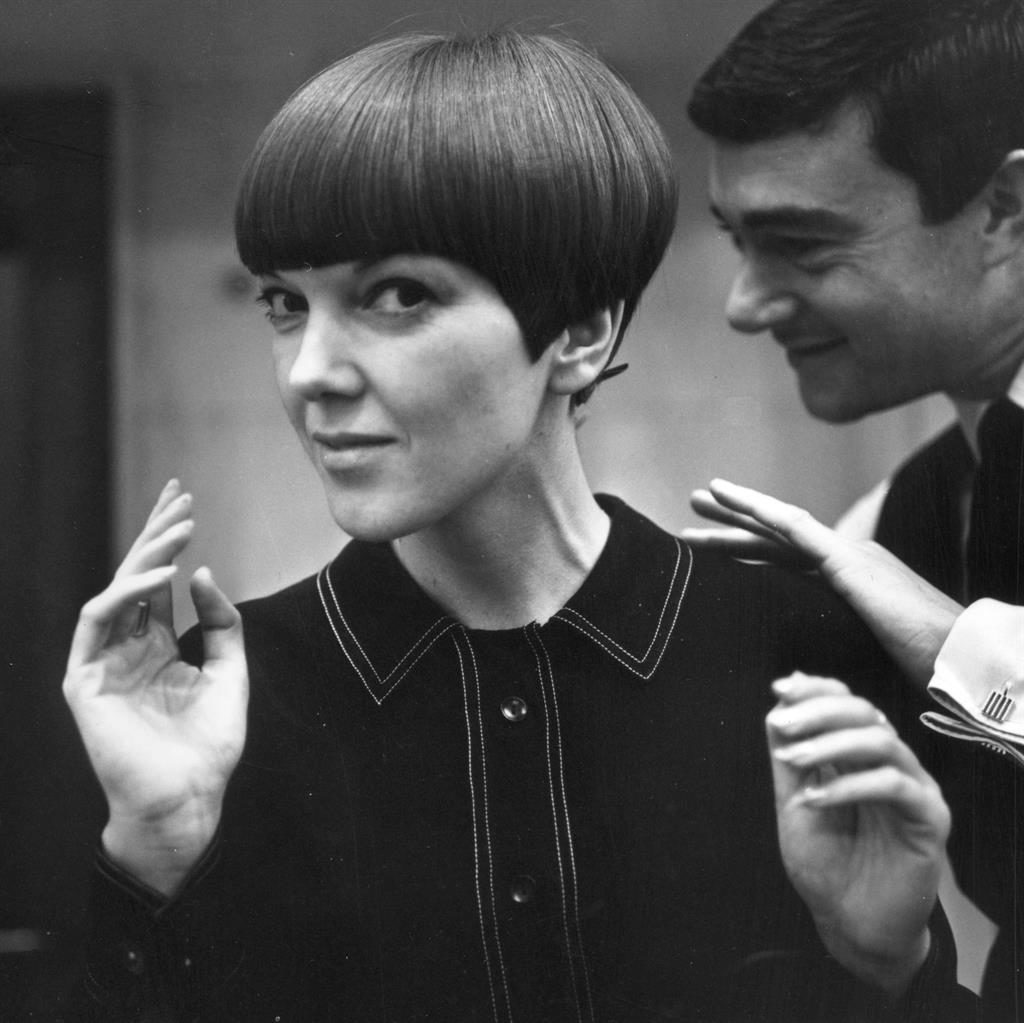 Cut above: Vidal Sassoon gives Mary's hair his famous geometric cut in 1964 PICTURE: GETTY