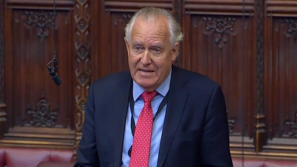 Injunction: Lord Hain and (below) Sir Philip Green