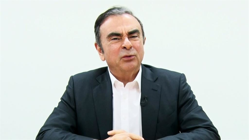 Claims: Carlos Ghosn video message PICTURE: AFP