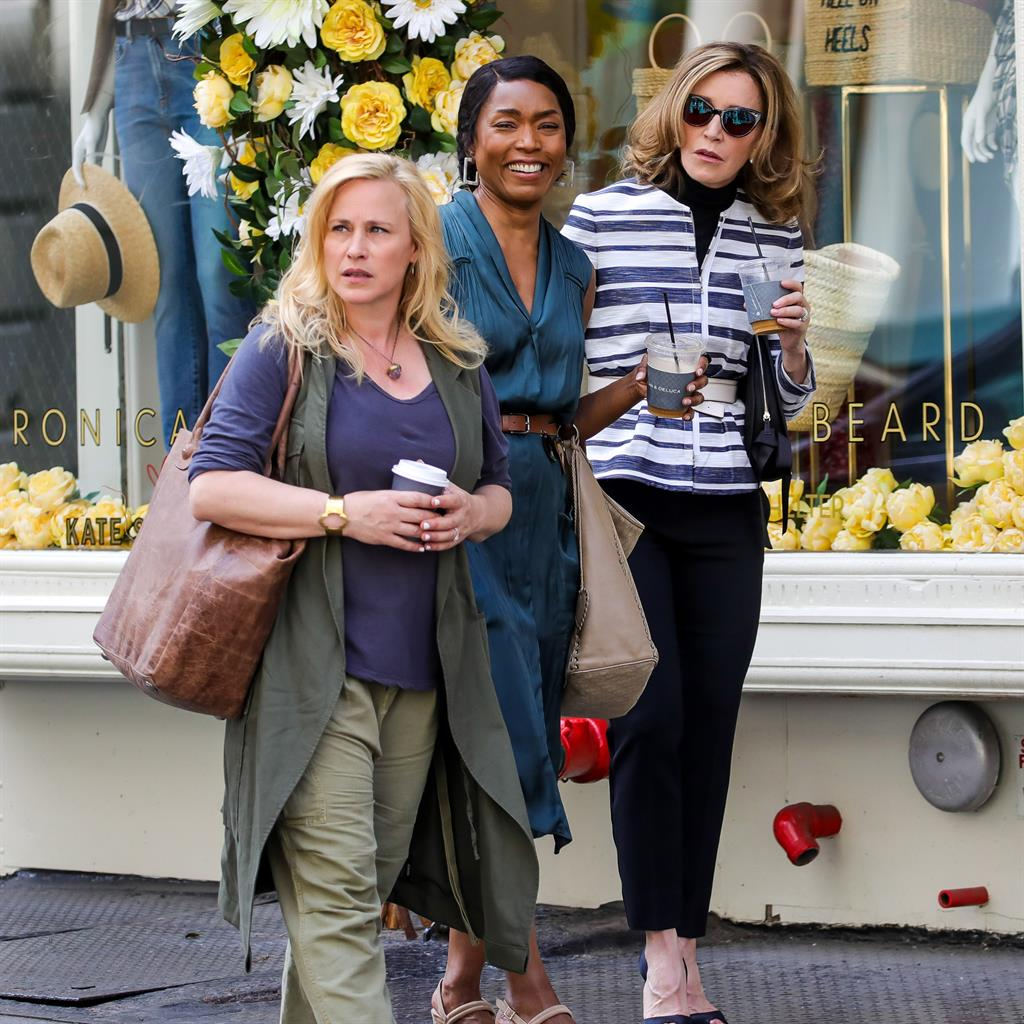 Other mothers: In Otherhood, Huffman (far right) stars with Patricia Arquette (left) and Angela Bassett PICTURE: GC IMAGES