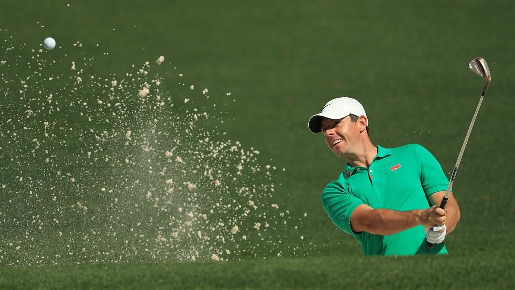 Ror-ing to go: McIlroy practises ahead of the Masters, which begins today PICTURES: GETTY