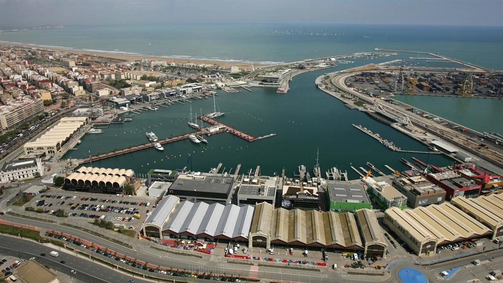 Bustling port: Valencia harbour in south-east Spain is popular with cruises PICTURE: AFP