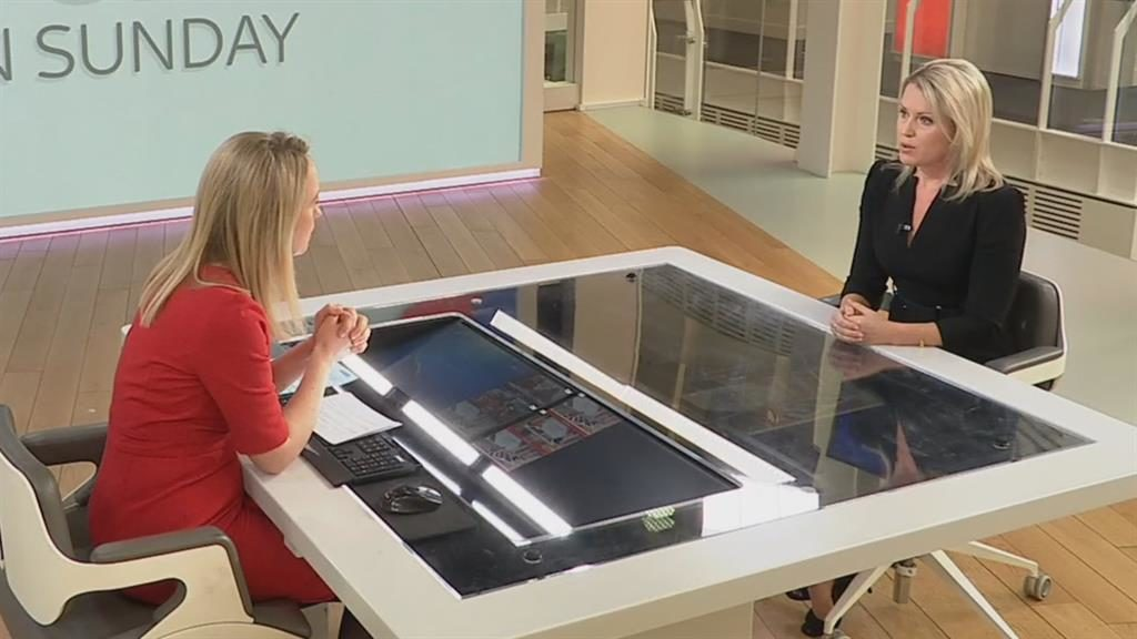 Solitude: Jennifer Robinson tells Sophy Ridge (on the left) that Assange's time in the embassy was not easy