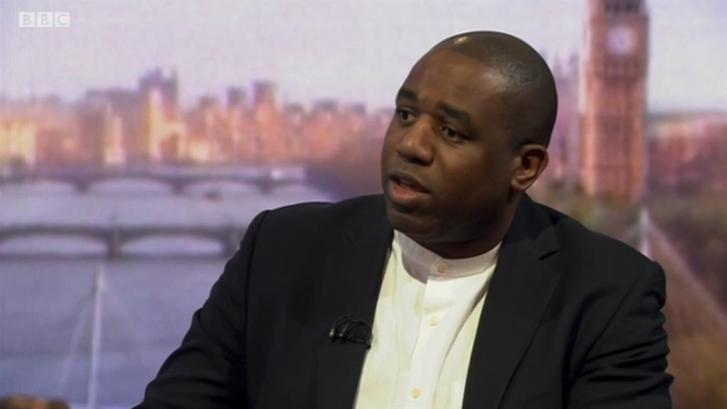 Defending views: Lammy on The Andrew Marr Show PICTURE: BBC