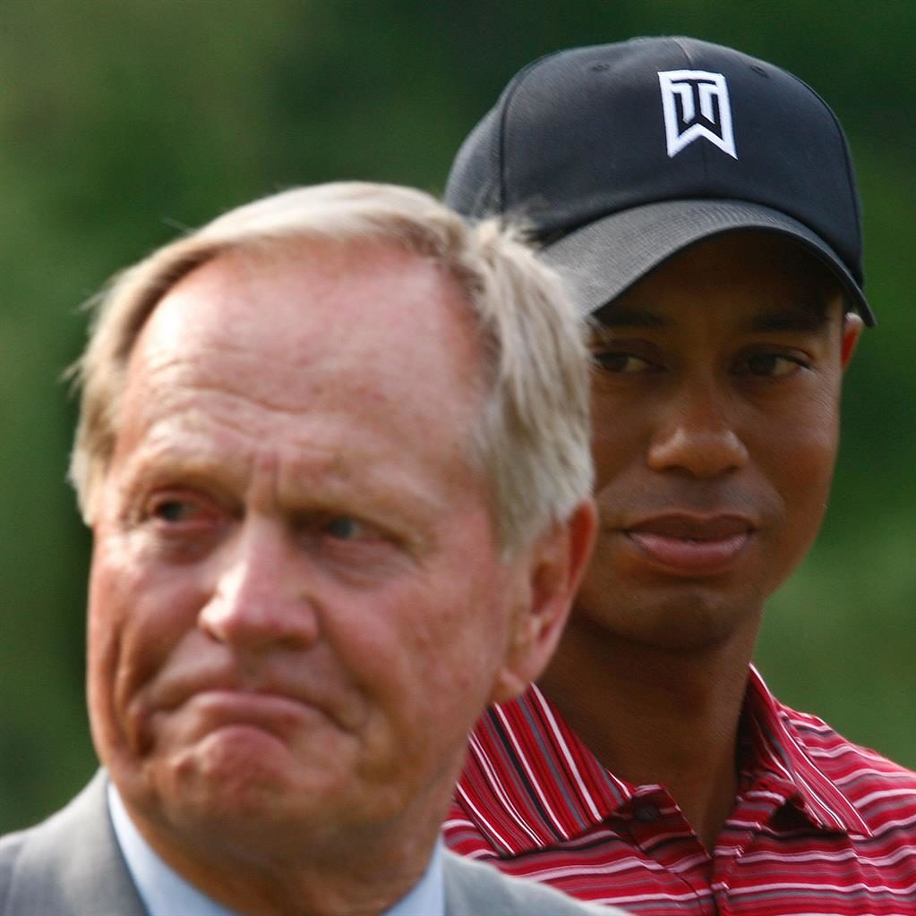 Closing in: Nicklaus with Woods PICTURE: GETTY