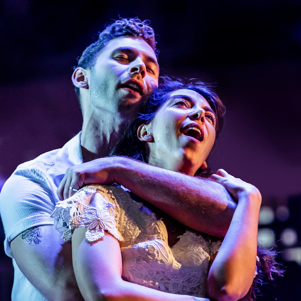 'Doomed lovers': Andy Coxon and Gabriela Garcia as star-crossed couple Tony and Maria PICTURES: RICHARD DAVENPORT