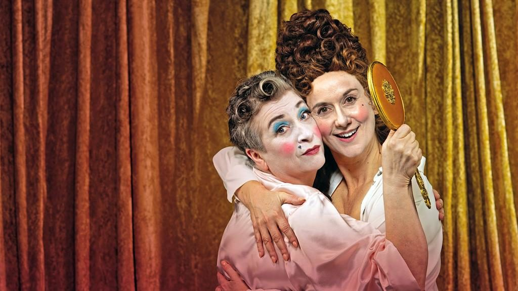 Regal romp: Caroline Quentin (left) and Alexandra Gilbreath in The Provoked Wife
