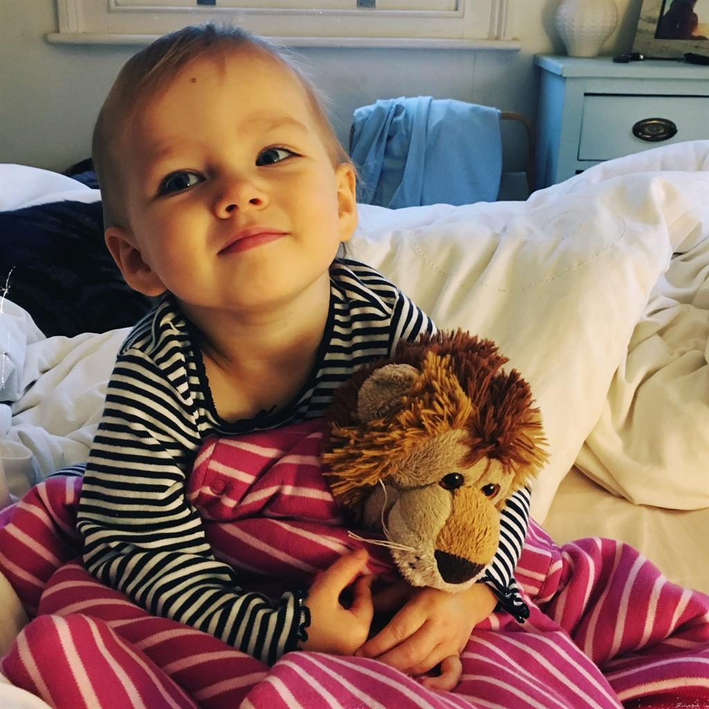 So much courage: Esme is said to have 'bulled through treatment' PICTURE: HANDLEY FAMILY
